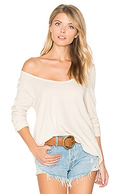 Gia Long Sleeve Tee in Natural Stripe