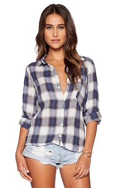 CP SHADES Jay Plaid Button Up in Nautical Plaid