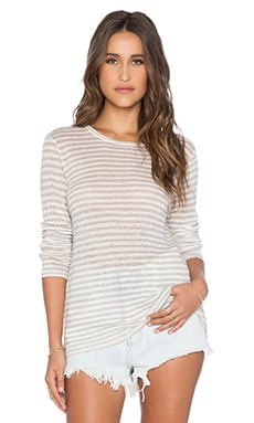 CP SHADES Striped Tee in Oat