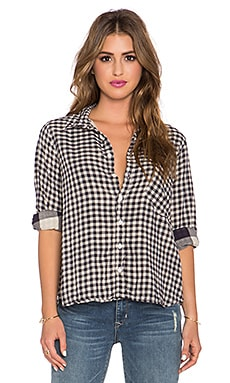 CP SHADES Jay Checked Shirt in Black & White
