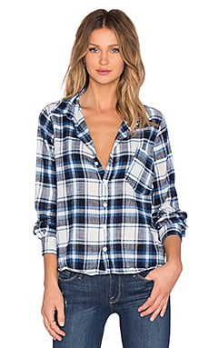 CP SHADES Jay Plaid Button Up in Blue Check Wash