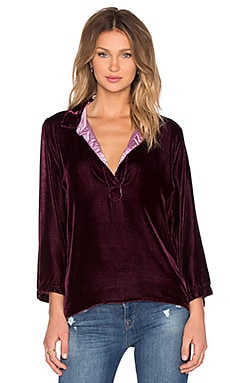 CP SHADES Kendall Velvet Tunic in Mulberry