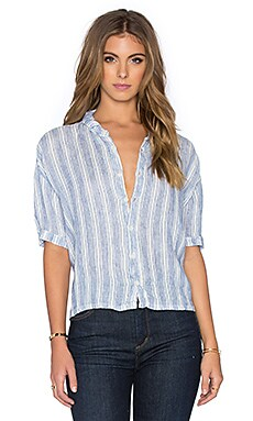 CP SHADES Rory Striped Button Up in Stripe Wash