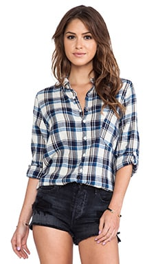 CP SHADES Jay Wash Button Down in Navy Plaid