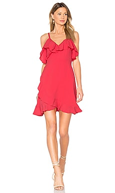 Morena Dress in Hot Coral