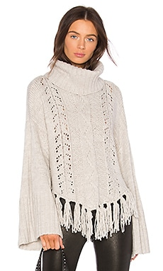 Prilla Fringe Sweater cupcakes and cashmere $105