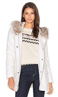 Standford Faux Fur Jacket en Ivory