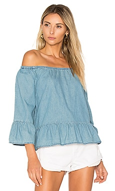 Bishop Top en Chambray
