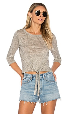 Mariel Top in Light Heather Grey
