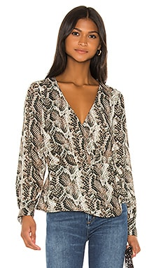 Jasper Wrap Blouse cupcakes and cashmere $98