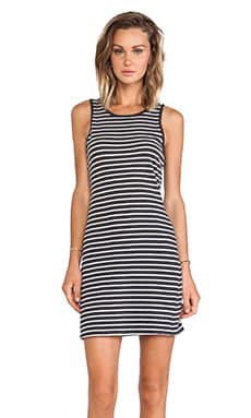 Current/Elliott The Louella Tank Dress in Black & White