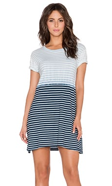 Current/Elliott The Knit Tee Dress in Mixed Indigo