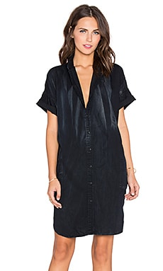 Current/Elliott The Oversized Smock Dress in Asphalt