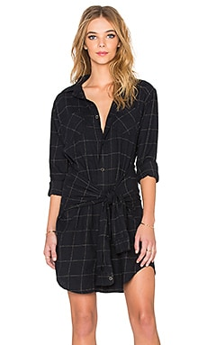 Current/Elliott The Twist Shirt Dress in Windowpane Plaid