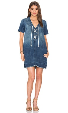 Current/Elliott The All Lace Up Dress in Civilian