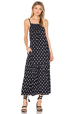 The Holly Dress in Dotted Ikat