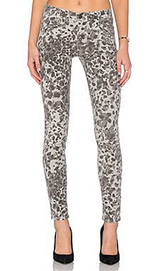 Current/Elliott The Welt Pocket Ankle Skinny in Steel Grey Scooter Leopard