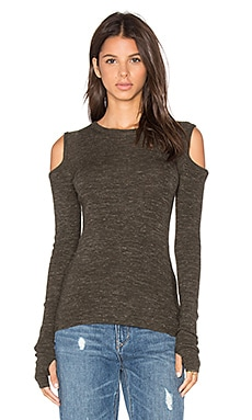 Current/Elliott The Cut Out Sweater in Moss Green