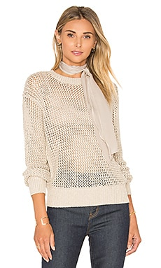 Current/Elliott The Zig Zag Sweater in Oatmeal