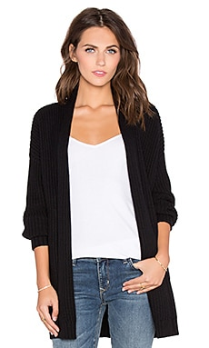 Current/Elliott The Oversized Cardigan in Black