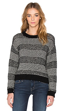 Current/Elliott The Mixed Stitch Sweater in Black