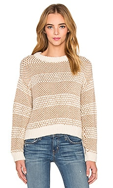 Current/Elliott The Mixed Stitch Sweater in Cream & Porcupine