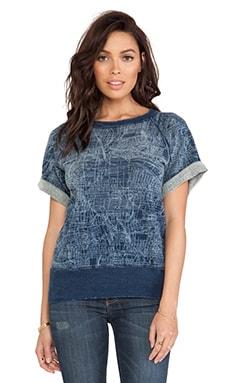 Current/Elliott The Rolled Sleeve Sweatshirt in Vernon Blue