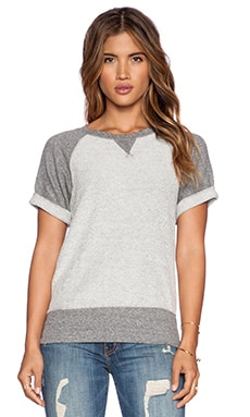 Current/Elliott The Athlete Sweatshirt in Reverse Heather Grey