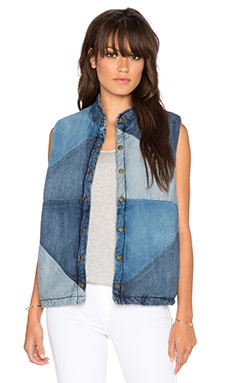 Current/Elliott The Patchwork Puffer Vest in Patchwork
