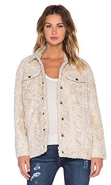 Current/Elliott The Teddy Trucker Jacket in Sherpa