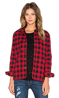 Current/Elliott The Workman Shirt Jacket in Forester Plaid