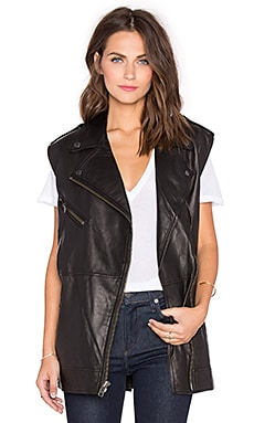 Current/Elliott The Moto Infinity Vest in Black