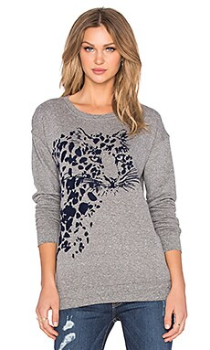 Current/Elliott The Greta Sweatshirt in Grey & Navy