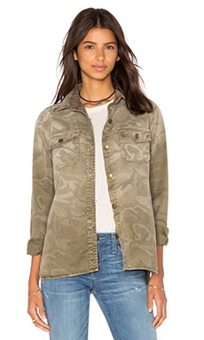 Current/Elliott The Perfect Shirt Jacket in Army Camo