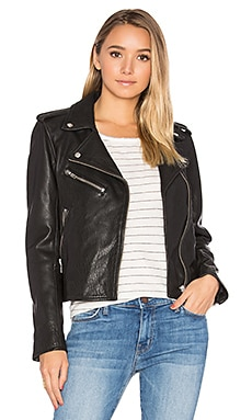 The Roadside Leather Jacket in Black Leather