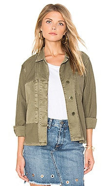 The Reversed Military Shirt Jacket in Army Green