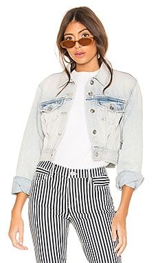 The Micro Corset Trucker Jacket Current/Elliott $138