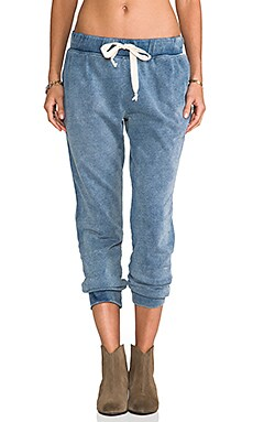 Current/Elliott The Vintage Sweatpant in Indigo Fade