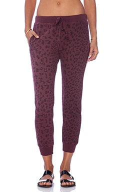 Current/Elliott The Slim Vintage Sweatpant in Garnet Leopard