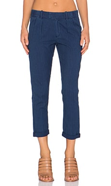 Current/Elliott The Izzy Pant in Indigo Dobby