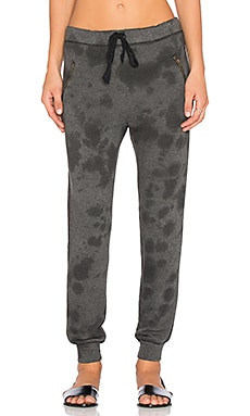 Current/Elliott The Zipster Unfinished Edge Sweatpant in Exhaust