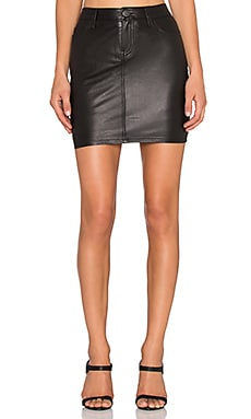 Current/Elliott The Skinny Mini Skirt in Black