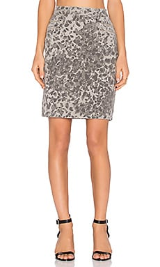 Current/Elliott The Geneva Skirt in Steel Grey Scooter Leopard