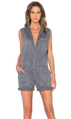 Current/Elliott The Moto Shortall Romper in Castle