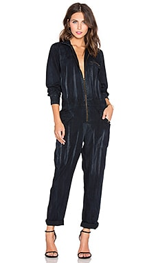 Current/Elliott The Zip Rosie Jumpsuit in Asphalt