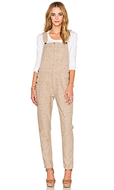 Current/Elliott The Forman Overall in Heather Beige