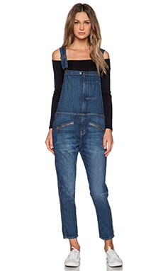 Current/Elliott The Zip Boyfriend Overall in Loved