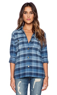 Current/Elliott The Perfect Shirt in Reflektor Plaid