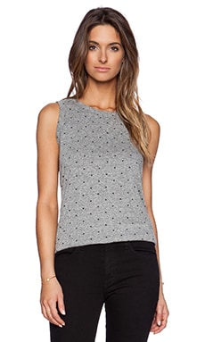 Current/Elliott The Muscle Tee in Heather Grey & Polka Star