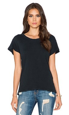 Current/Elliott The Crew Neck Tee in Black Beauty